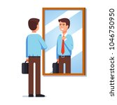 young business man looking at... | Shutterstock .eps vector #1046750950