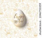 easter egg with hand made... | Shutterstock . vector #1046753359