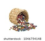five color bean on white... | Shutterstock . vector #1046754148