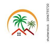 Stock vector house nature logo template 1046755720