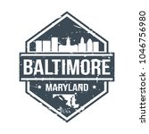 baltimore maryland usa travel... | Shutterstock .eps vector #1046756980