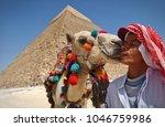 giza  egypt   may 2015  a camel ... | Shutterstock . vector #1046759986