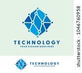 block chain technology logo | Shutterstock .eps vector #1046760958