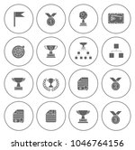 winner icons set   cup and... | Shutterstock .eps vector #1046764156