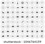 weather overcast icons set  ... | Shutterstock .eps vector #1046764159