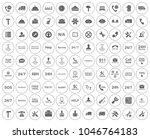 customer service icons set  ... | Shutterstock .eps vector #1046764183
