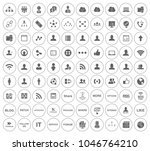 network icons  communication... | Shutterstock .eps vector #1046764210