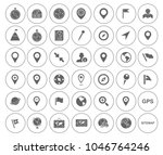 map pin icons set   navigation... | Shutterstock .eps vector #1046764246