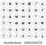 beach and summer icons set  ... | Shutterstock .eps vector #1046764270