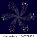bright space antenna exploding... | Shutterstock . vector #1046768950