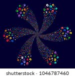 psychedelic intellect bulb... | Shutterstock .eps vector #1046787460