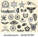 set of vector stars | Shutterstock .eps vector #104678789