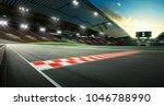 evening scene asphalt... | Shutterstock . vector #1046788990