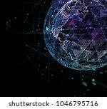 earth  representing global... | Shutterstock . vector #1046795716