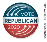2020 campaign election pin... | Shutterstock .eps vector #1046795938