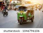 tuk tuk taxi on yaowarat road... | Shutterstock . vector #1046796106