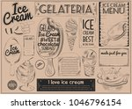 ice cream placemat craft paper... | Shutterstock .eps vector #1046796154