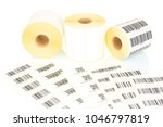 white label rolls and printed... | Shutterstock . vector #1046797819
