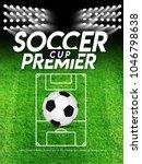 soccer league flyer design... | Shutterstock .eps vector #1046798638