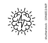 brainstorm icon  vector... | Shutterstock .eps vector #1046811469