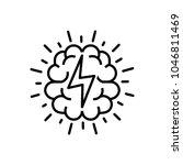 brainstorm icon  vector... | Shutterstock .eps vector #1046811469