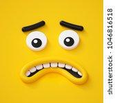 3d render  abstract emotional... | Shutterstock . vector #1046816518