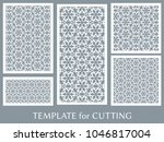 decorative panels set for laser ... | Shutterstock .eps vector #1046817004