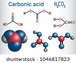 carbonic acid  h2co3  molecule .... | Shutterstock .eps vector #1046817823