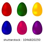 collection of colorful colored... | Shutterstock . vector #1046820250