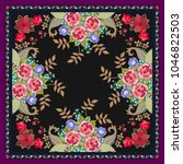 unique shawl or carpet with... | Shutterstock .eps vector #1046822503