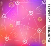 technological digital texture... | Shutterstock .eps vector #1046826958