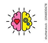 balance between logic and...   Shutterstock .eps vector #1046830678