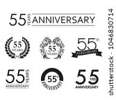 55 years anniversary icon set.... | Shutterstock .eps vector #1046830714