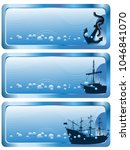 sea banners with cartoon anchor ...   Shutterstock .eps vector #1046841070