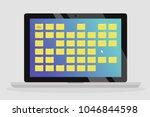 folders on the desktop. working ... | Shutterstock .eps vector #1046844598