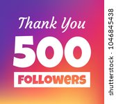 thank you 500 followers social... | Shutterstock .eps vector #1046845438