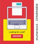 submit upload resume concept.... | Shutterstock .eps vector #1046846806