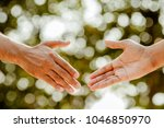 helping hand concept.thank you... | Shutterstock . vector #1046850970
