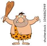 angry caveman cartoon character ... | Shutterstock . vector #1046862949