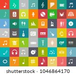 sound music icons set   audio... | Shutterstock .eps vector #1046864170