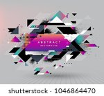 colorful abstract design.... | Shutterstock .eps vector #1046864470