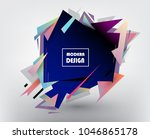 colorful abstract design.... | Shutterstock .eps vector #1046865178