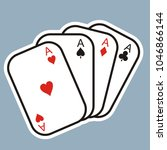 playing cards. four card... | Shutterstock .eps vector #1046866144