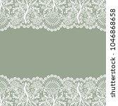 horizontally seamless green... | Shutterstock . vector #1046868658