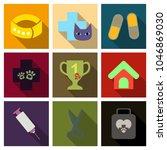 set of flat icons veterinary... | Shutterstock .eps vector #1046869030