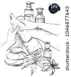 foot massage. hands doing foot... | Shutterstock . vector #1046877643