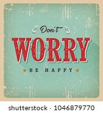 don't worry be happy card ... | Shutterstock .eps vector #1046879770