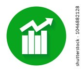 growth bar chart icon. growing... | Shutterstock .eps vector #1046882128