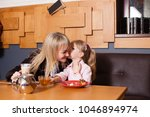 mom and daughter enjoying life...   Shutterstock . vector #1046894974