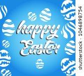 vector card with eggs. happy... | Shutterstock .eps vector #1046898754